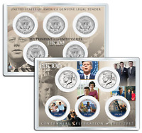 JOHN F. KENNEDY JFK100 Birthday 2017 JFK Half Dollar 5-Coin Set LIFE & TIMES 4x6