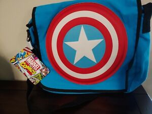 MARVEL COMICS CAPTAIN AMERICA  MESSENGER BAG - FAST SHIPPING -BRAND NEW W/TAGS!