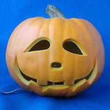 "Gemmy 9"" Halloween Jack O Lantern Pumpkin lighted happy face 1998"