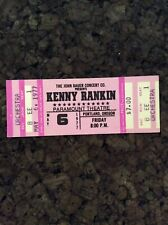 Kenny Rankin 1977 Unused Concert Ticket Portland Oregon Paramount