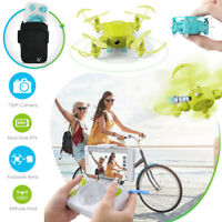 JJRC D4 Mini Pocket Foldable Drone WIFI 2.4Ghz RC Quadcopter 720P HD Camera LED