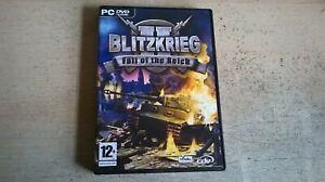 BLITZKRIEG II : FALL OF THE REICH 2 - PC GAME - FastPost ORIGINAL & COMPLETE VGC