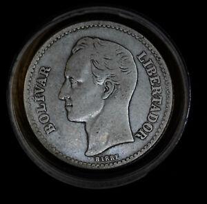 Venezuela 1 Bolivar 1935 1936 1945 1929 26 19 G VG-F VF silver Y#22 LOT