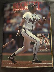 Beckett Baseball Card Monthly Magazine David Justice September 1991