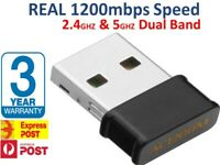 1200Mbps Wireless WiFi Network Receiver Adapter 2.4 / 5GHz Dual Band Dongle