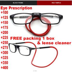 Foldable Magnetic Reading Glasses Adjustable Hanging Neck Folding