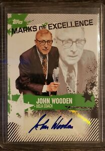 2006-07 Topps Marks of Excellence John Wooden autograph auto #ME-JWO