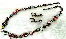VINTAGE - Sorrelli Crystal Necklace Choker - w/ matching earrrings - Rustic Boho