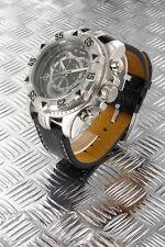 orologio crono-look Jay Baxter cinturino vera pelle-garanzia-nuovo- b435 C