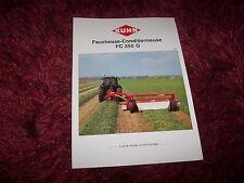 Prospectus / Leaflet KUHN Faucheuses FG 350 G 1991 //