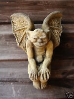 "Winged goblin wall plaque gothic decorative home or garden ornament 20cm/8"" H"