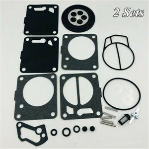 2 Sets Carburetor Carb Rebuild Kit For SeaDoo GS GSI GSX GT GTI GTX SP SPI SPX