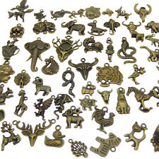 Pack of (x20) Mixed Kinds Bronze Alloy Metal Animals Pendants Charms DIY Crafts