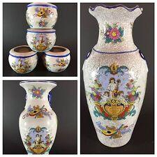 LOT of 6 Vintage Ceramic Italian/Asian Style  Pots Planters & Flower Vases