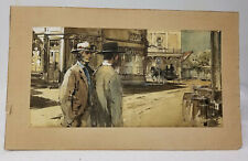 Antique Vintage Movie Storyboard Western Scene Illustration Hollywood