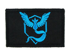 Pokemon Go Team Mystic Tactical Hook & Loop Embroidered Morale Tags