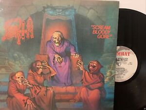 Death - Scream Bloody Gore LP 1987 Combat 88561-8146-1 1st Press US - VG+/VG+