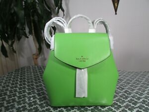 NWT Kate Spade Saffiano Leather Lizzie Medium Flap Backpack Turaco Green