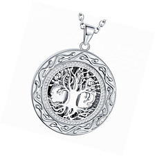 "Tree of Life Cremation Jewelry, "" Always in My Heart "" Carved Keepsake Memorial"