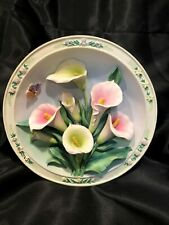 3D Bradford Exchange Beautiful Gardens Ceramic Plate - The Calla Lily Garden