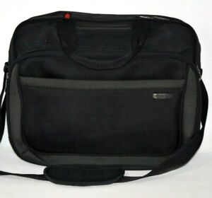 SOLO Laptop Case Carry On Business Overnight Bag Luggage Briefcase Black