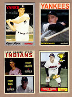 ROGER MARIS LOT OF 4: ROOKIE YEAR/61 HRS/WITH COLAVITO/CLEVELAND INDIANS