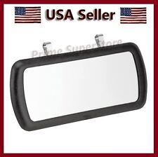 New Large Black Clip On Sun Visor / Vanity Mirror For Car/ Truck/ Automobile/ RV