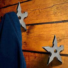 Coat Hooks Ninja Star Shape Stainless Steel Creative Wall Door Hook Clothes T1R7