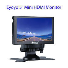 "Eyoyo 5"" Small HDMI VGA BNC Monitor 800x480 Car Rear View Security TFT LCD Ypbpr"