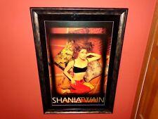 Shania Twain Rare Signed Autographed Framed Come On Over 1997 Promo Poster COA