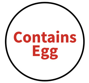 """""""Contains Egg"""" Food Allergy Labels - Red - 19mm (117 per sheet)"""