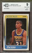 1988-89 Fleer #57 Reggie Miller Rookie Card BGS BCCG 9 Near Mint+