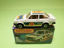MATCHBOX 9  -  FORD RS.2000   - IN NEAR MINT CONDITION  -  IN ORGINAL  BOX