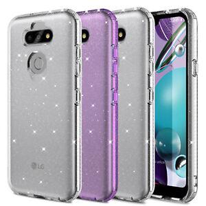 For LG Aristo 5 / Phoenix 5 Shockproof Hybrid Shiny Bling TPU Slim Case Cover US