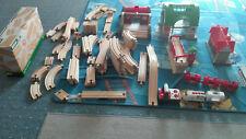 Riesen Sammlung - BRIO Holz Eisenbahn, Bahnhof, Schienen, Zug Waggons Brücke Lok