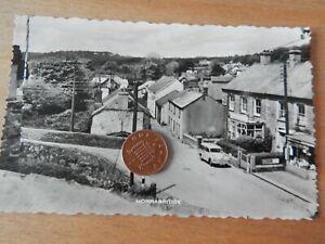 Vintage RP Postcard  horrabridge Devon Street with Shops