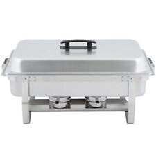 3pack Choice Full Size 8 Qt. Stainless Steel Chafing Dishes W Folding Frames