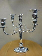 Vintage AB Made in England Silverplate on Zinc Candelabra UNIQUE