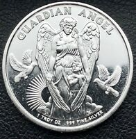 2017 Guardian Angel 1 oz .999 Fine Silver Round Coin Niue $1 Silver Bullion