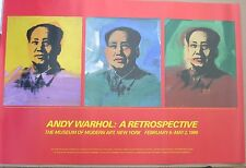 ANDY WARHOL: A RETROSPECTIVE, Three Mao's Poster, 1989 Museum of Modern Art, New