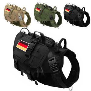 Hundegeschirr Taktisches Militär Zuggeschirr MOLLE Brustgeschirr 3 Taschen
