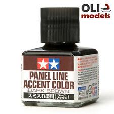 Tamiya DARK BROWN Panel Line Accent Color Wash 40ml Bottle - Tamiya 87140