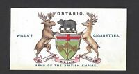 WILLS - ARMS OF THE BRITISH EMPIRE - #31 ONTARIO