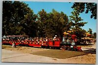 Michigan City IN Indiana Washington Park Central, Lakeshore Railroad Postcard D4