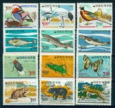 South KOREA 1966 Fauna & Flora set Scott# 493-504 mint MLH - Bear, Duck, Fish