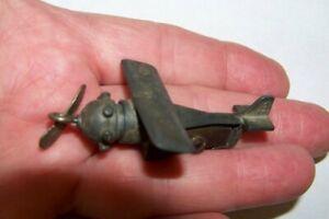 Rare ANCO Metal Single Prop Airplane Pencil Sharpener, Spirit of St. Louis No.7
