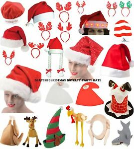 Novelty Father Christmas Hats Xmas Office Party Fancy Dress Costume Accessories