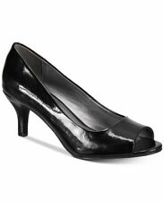 size 7.5 Karen Scott Mory Black Peep Toe Heels Pump Womens Shoes