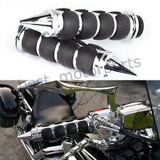 CUSTOM CHROME MOTORCYCLE HAND GRIPS HANDLEBAR 1 INCH FOR HARLEY DAVIDSON SPIKE