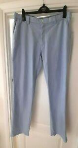 "Polo Ralph Lauren Classic Fit Chambray Blue Chino Trousers  36"" Waist 34"" Leg"